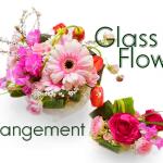 「フラワーデザイン基礎講座」花束をもらった時の水揚げの仕方と、ガラスの花器にアレンジして楽しむ方法